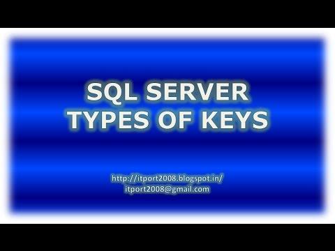 Super Key, Candidate Key, Alternate Key, Composite Key in SQL Server