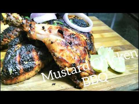 Mustard Chicken Barbecue │ Grilled Mustard Chicken Recipe  │Non veg Recipe