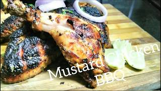 Mustard Chicken Barbecue │ Grilled Mustard Chicken Recipe  │Non veg Recipe