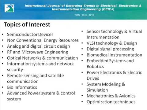 Emerging Trends in Electrical, Electronics & Instrumentation Engg: An Intl Journal (EEIEJ)
