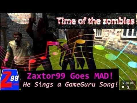 Zaxtor99 Has Officially Gone MAD! - He Sings A Bad Zombie Game Gone Wrong Song!!