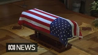George H.W. Bush farewelled at state funeral | ABC News