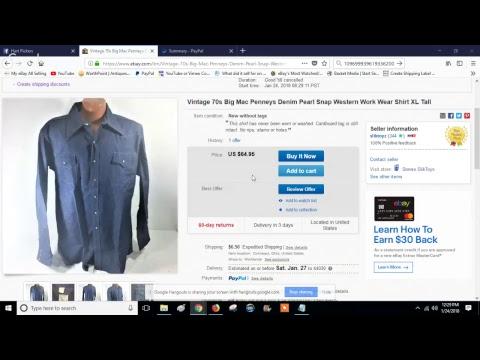 Ebay shipping metric glitch and Paypal refund glitch January 2018