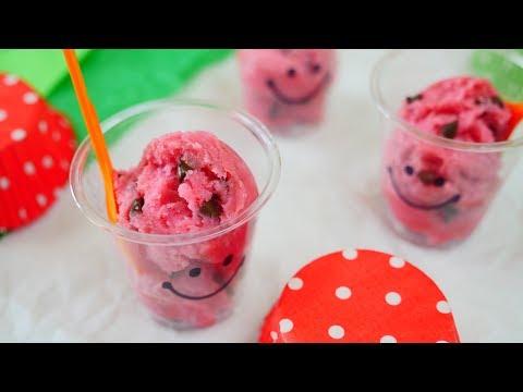 Edible Watermelon Cookie Dough なんちゃってスイカアイスクリーム アメリカではクッキー生地を焼かずに食べることがあるとか