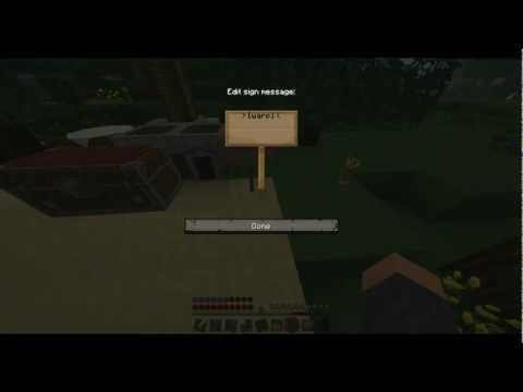 Minecraft how to make warp signs! =)