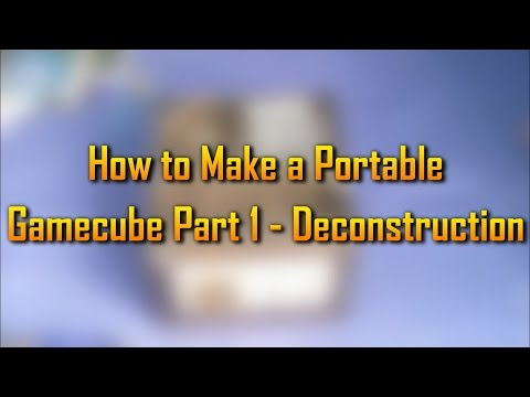 How to Make a DIY Portable Gamecube // Part 1 // Disassembly
