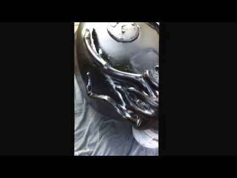 Milders Masks Chimera motorcycle build.... The tank sculpt so far :)