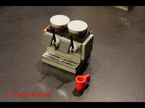 How to Build a Starbucks Mastrena Espresso Machine out of LEGO Bricks