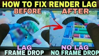 How To Fix Rendering Problem in Pubg Mobile | Pubg Mobile Lag Fix | Render Lag Fix | 2GB/3GB Ram