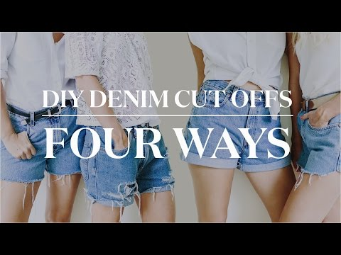 4 Ways to Make DIY Denim Cut Off Shorts