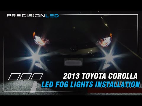 Toyota Corolla LED Fog Lights How To Install - 2013-Present