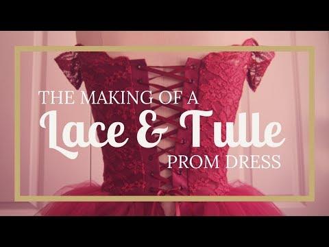 Dressmaking: Lace & Tulle Tutu Prom Dress