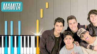 "CNCO - ""Mamita"" Piano Tutorial - Chords - How To Play - Cover"