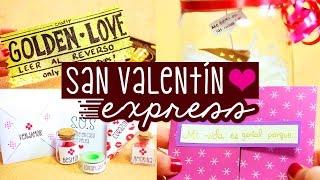 Hoy haremos ideas fáciles y de último minuto para regalar en San Valentín. Haz una máquina de regalos: http://bit.ly/1SAE3VG  ✄ LA TIENDA: http://www.holadiy.com ▼ Sigue leyendo ▼  Crafters! el día de hoy les comparto 4 ideas fáciles, bonitas y originales para regalar en San Valentín, 14 de Febrero, día del amor y de la amistad, día de los enamorados, cuando cumplan mes/ aniversario de novios o en el cumpleaños de su mejor amiga.   En el video decoré los regalos como si estuvieran hechos de último minuto pero pueden dedicarle mucho más tiempo a la decoración para hacer algo más elaborado.   Más ideas de San Valentín aquí: http://bit.ly/1DK5OSF Tarjetas para regalar: http://bit.ly/1SkqdGu  /// SOBRE EL SORTEO:  Hay 6 premios, hoy anuncié el último. Si quieres participar en los otros 5 ve cómo aquí:  Gana el premio 1: http://bit.ly/1O5DB9P Gana el premio 2: http://bit.ly/1mvzc9R Gana el premio 3: http://bit.ly/20YoTuy Gana el premio 4: http://bit.ly/20P0omN Gana el premio 5: http://bit.ly/1V7flK6  El sorteo es internacional y tienen hasta el 12 de Febrero, mañana, para participar yo anunciaré al ganador en vivo en younow: https://www.younow.com/craftingeek  Mucha suerte!   · SUSCRIBETE GRATIS: http://bit.ly/PonteCrafty · DESCARGABLES:  http://craftingeek.me  ---------------  ♥ ✄ ✏ TIENDA http://www.holadiy.com   ♢ SNAPCHAT craftingeekliz ♡ FACEBOOK http://www.facebook.com/craftingeek ♢ TWITTER http://www.twitter.com/craftingeek ♡ INSTAGRAM http://instagram.com/craftingeek ♢ PINTEREST http://bit.ly/CGurlP