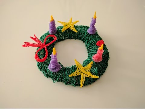 How to make an advent wreath with a 3D pen