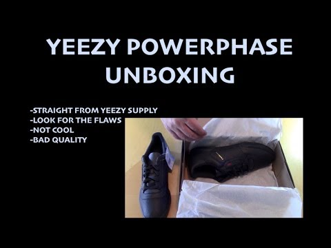 Adidas Yeezy Powerphase Calabasas - NOT COOL Unboxing - From Yeezy Supply