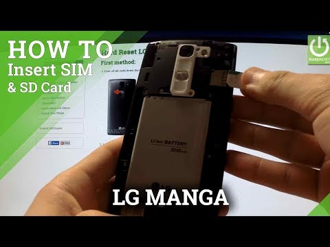 LG Magna - How to Insert SIM card and Micro SD card in LG device