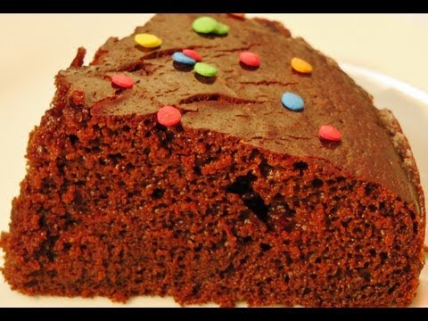 How to make Eggless Chocolate Cake in Pressure Cooker (Cooker Cake) (No oven cake)