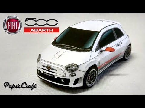 Fiat 500 Abarth - PaperCraft