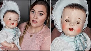 I Bought a 100+ Year Old Doll... (Is it Haunted?!)   Thrift Shopping Haul
