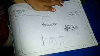 Pencil Shading Scenery Drawing For Kids
