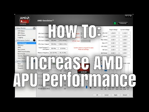 How To: Increase AMD APU Performance