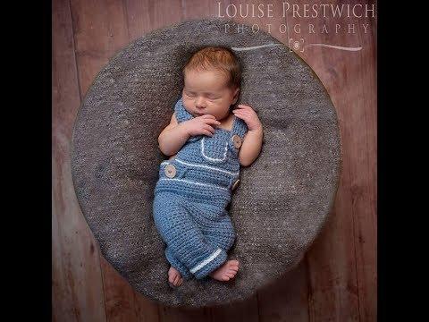 Crochet Pattern Denim Style Overalls Presentation by Newborn Knots