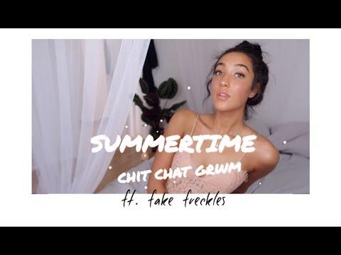 summer time GRWM 🌞 ft. fake freckles