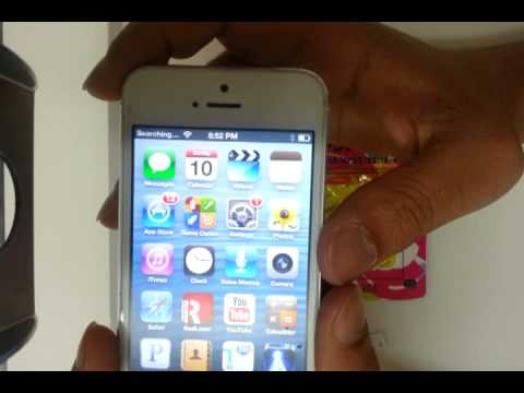 How to UNLOCK a AT&T iPHONE 5 R-SIM 9 pro, T-Mobile Metro PCS simple mobile Sprint H2o