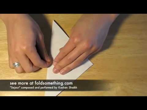 How to make an origami square base