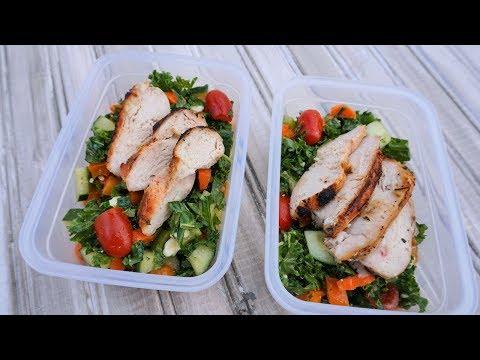 MEAL PREP Kale Salad with Homemade Dressing | Episode 110