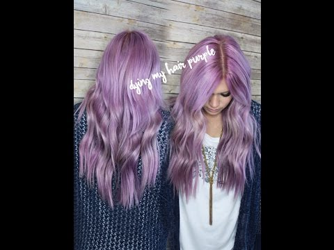 DYING MY HAIR PURPLE | dusty lilac rose