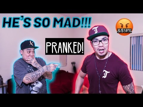 MOVING OUT PRANK!! **emotional/he was PISSED**