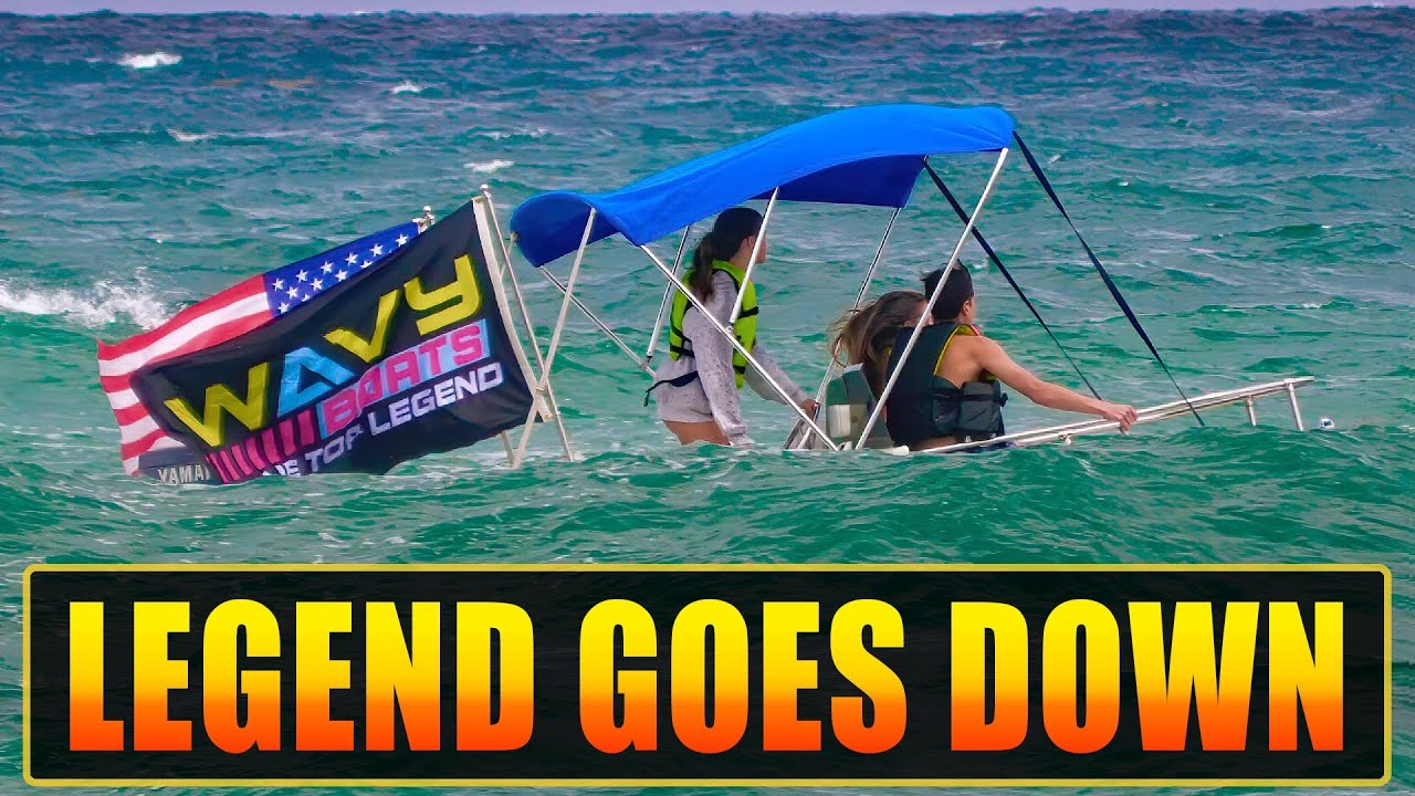 BLUE TOP LEGEND GOES DOWN !! ENGINE FAILS AT BOCA INLET !   HAULOVER INLET BOATS   WAVY BOATS