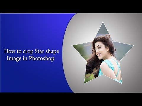 How to crop Star shape Image in Photoshop