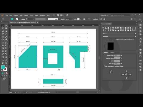 Add Dimensions PowerScript for Adobe Illustrator