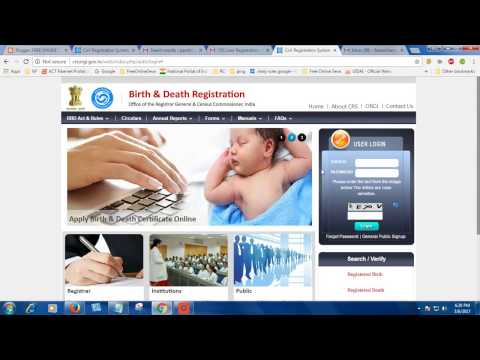 Apply Death and Birth Certificate Online | How to do Birth & Death Registration Online?