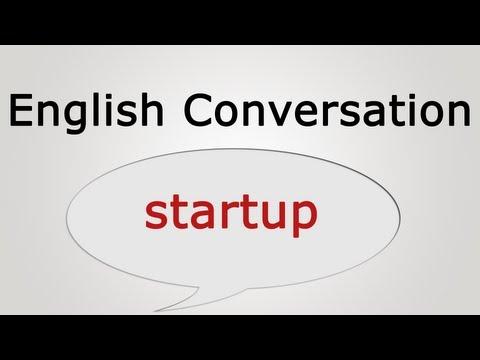 English conversation: startup