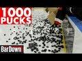 USING 1000 PUCKS IN HOCKEY WARMUPS
