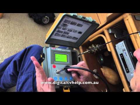 How to Check a TV Socket Using a Professional Digital TV Meter