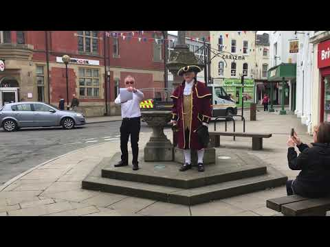 Oswestry town crier interviews: Applicant, Phil Brown, auditions for role