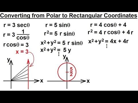PreCalculus - Polar Coordinates (4 of 35) Converting From Polar to Rectangular Coordinates