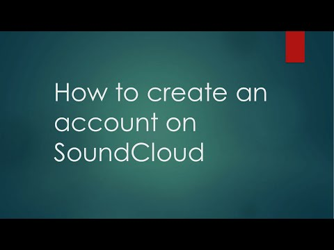 How to create an account on Soundcloud