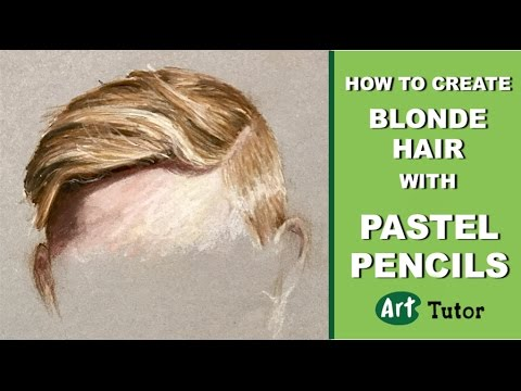 How to Create Blonde Hair with Pastel Pencils
