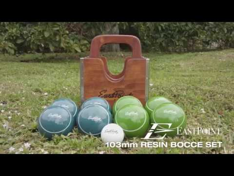 103mm Bocce Set with Wood Crate