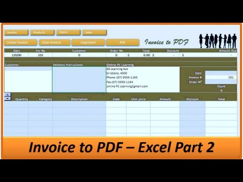 Exce Invoice to PDF - Excel Invoice Creator - Excel VBA Project - Part 2