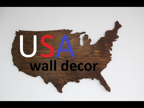 Map of USA from $5 plywood