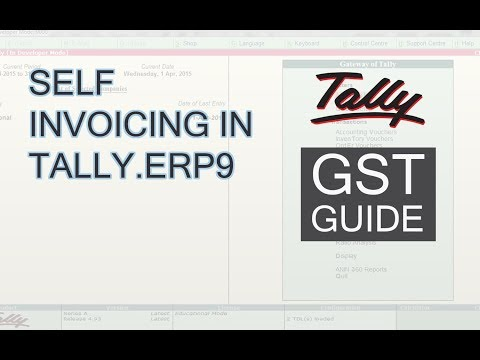 Learn Self Invoicing in Tally.ERP9 | Self Invoice in Tally Under GST
