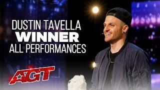 Dustin Tavella | AGT WINNER | All Performances | America's Got Talent 2021