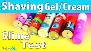 Shaving Gel Shaving Cream Slime Test